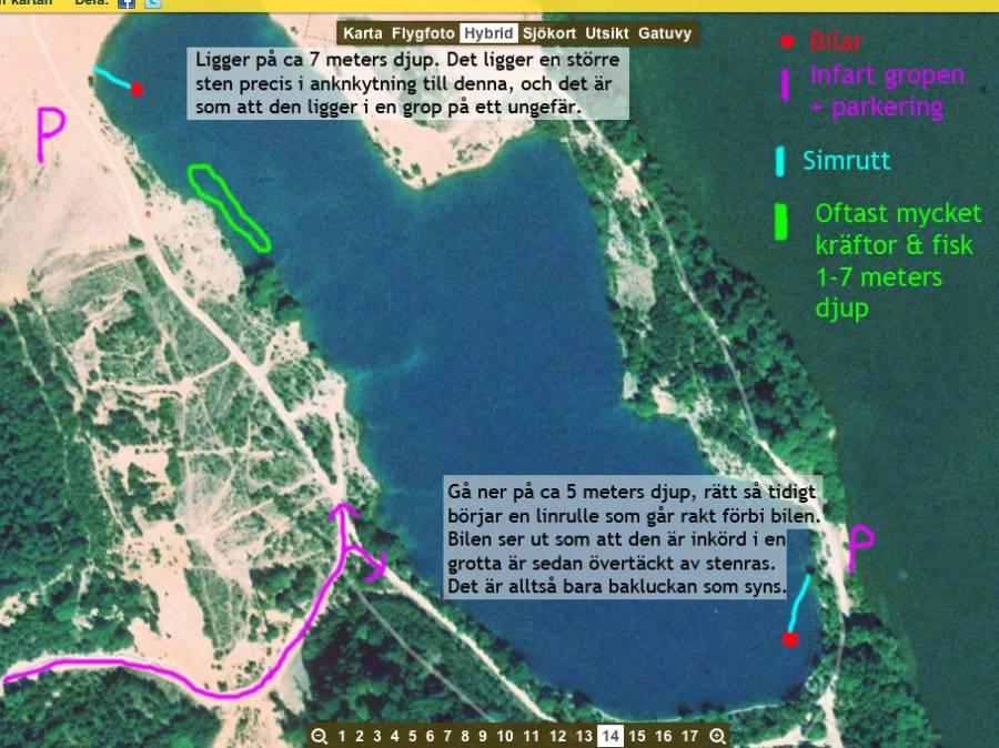 blå lagunen ekerö karta Grustaget Munsö, Ekerö Husbygropen dykplats blå lagunen ekerö karta